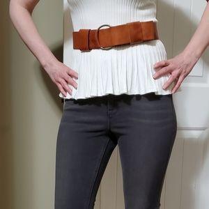 Vintage Gap tan leather belt